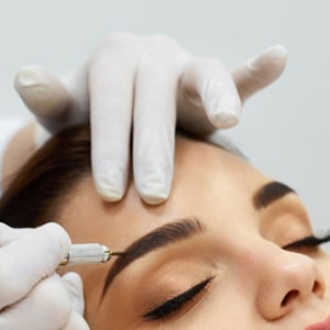 Microblading for eyebrows, eyes and lips